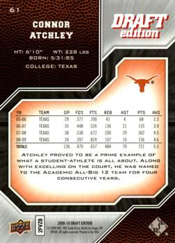 2009-10 Upper Deck Draft Edition #61 Connor Atchley Back