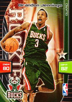 Panini NBA adrenalyn xl-Brandon Jennings-Milwaukee