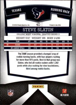2010 Donruss Elite #40 Steve Slaton Back