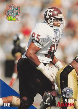 1994 Classic NFL Draft #6 Sam Adams  Front