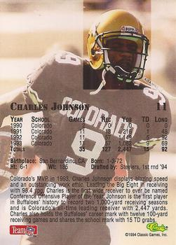 1994 Classic NFL Draft #11 Charles Johnson  Back