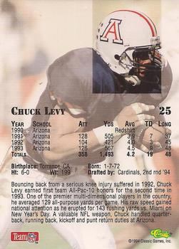 1994 Classic NFL Draft #25 Chuck Levy  Back