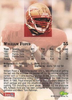 1994 Classic NFL Draft #55 William Floyd  Back