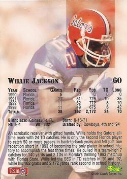 1994 Classic NFL Draft #60 Willie Jackson  Back