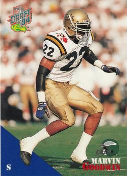 1994 Classic NFL Draft #76 Marvin Goodwin  Front