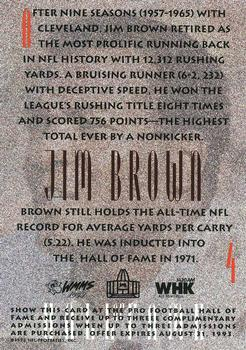 1992 Sunoco Browns Hall of Fame #4 Jim Brown Back
