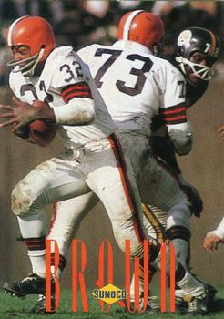 1992 Sunoco Browns Hall of Fame #4 Jim Brown Front