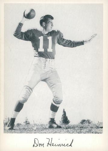 1956 Jay Publishing New York Giants #NNO Don Heinrich Front