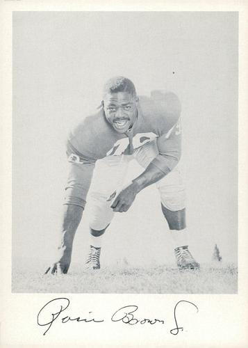 1957 Jay Publishing New York Giants #NNO Roosevelt Brown Jr. Front