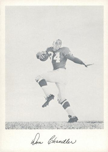 1957 Jay Publishing New York Giants #NNO Don Chandler Front