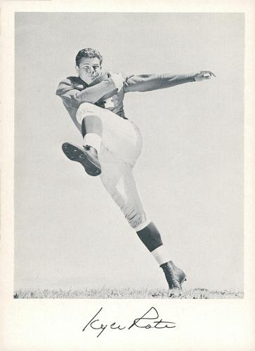 1957 Jay Publishing New York Giants #NNO Kyle Rote Front