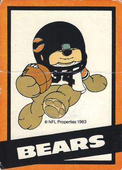 1983 NFL Properties Huddles #NNO Chicago Bears Front