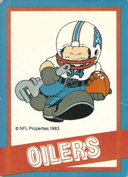 1983 NFL Properties Huddles #NNO Houston Oilers Front