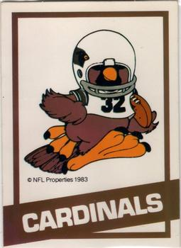 1983 NFL Properties Huddles #NNO St. Louis Cardinals Front