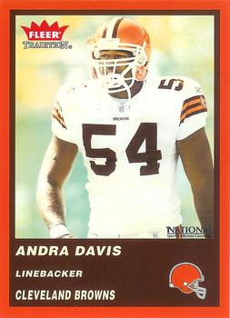 2004 Fleer Tradition National Cleveland Browns #9 Andra Davis Front