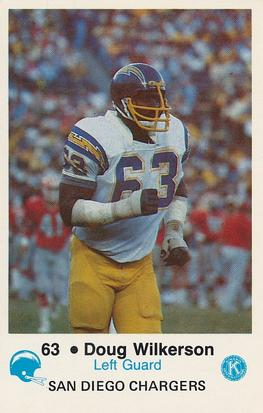 1981 San Diego Chargers Police #63 Doug Wilkerson Front