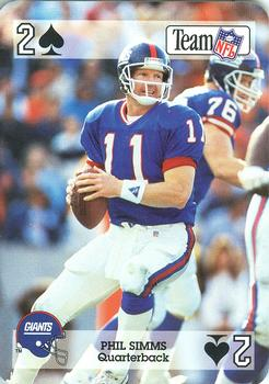 1992 Sport Decks NFL Playing Cards #2S Phil Simms Front