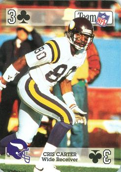 1992 Sport Decks NFL Playing Cards #3C Cris Carter Front
