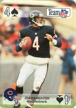 1992 Sport Decks NFL Playing Cards #4S Jim Harbaugh Front