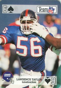 1992 Sport Decks NFL Playing Cards #6S Lawrence Taylor Front