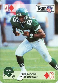 1992 Sport Decks NFL Playing Cards #9D Rob Moore Front
