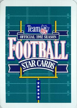 1992 Sport Decks NFL Playing Cards #JC Ricky Ervins Back