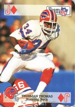 1992 Sport Decks NFL Playing Cards #JD Thurman Thomas Front