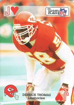 1992 Sport Decks NFL Playing Cards #JH Derrick Thomas Front