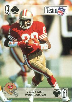 1992 Sport Decks NFL Playing Cards #QC Jerry Rice Front
