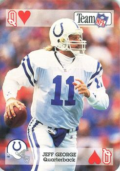 1992 Sport Decks NFL Playing Cards #QH Jeff George Front