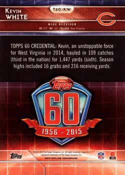 2015 Topps - 60th Anniversary #T60-KW Kevin White Back