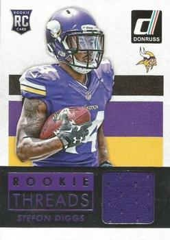2015 Donruss - Donruss Rookie Threads #DRT-SD Stefon Diggs Front