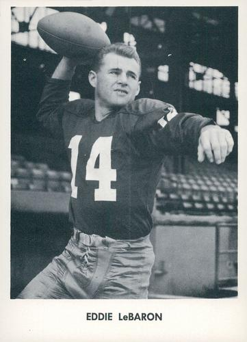 1958 Jay Publishing Washington Redskins #NNO Eddie Lebaron Front