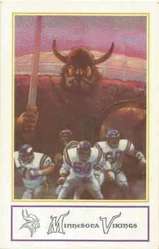 1983 Minnesota Vikings Police #1 Checklist Card Front