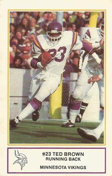1983 Minnesota Vikings Police #3 Ted Brown Front