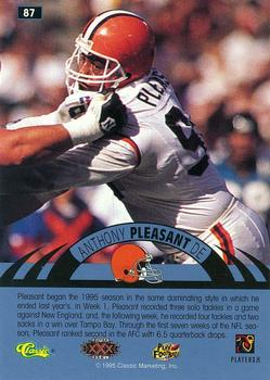 1996 Classic NFL Experience - Super Bowl Gold #87 Anthony Pleasant Back