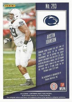 2016 Panini Contenders Draft Picks #293 Austin Johnson Back