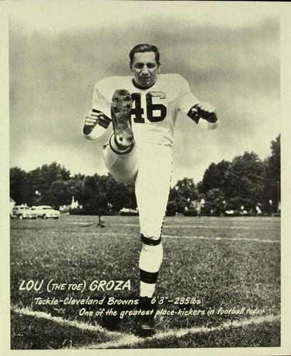 1949 SOHIO Cleveland Browns #NNO Lou Groza Front