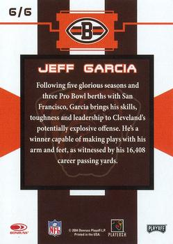 2004 Donruss Playoff National Cleveland Browns #6 Jeff Garcia Back