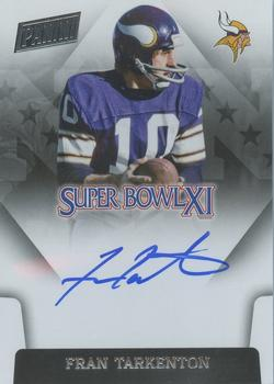 2015 Panini Black Gold - Super Bowl Signatures #SBXI-FT Fran Tarkenton Front