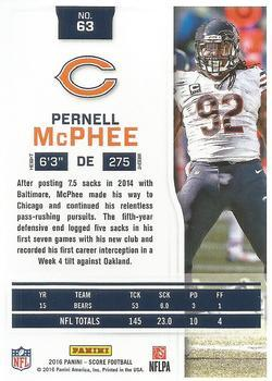 2016 Score - Jumbo End Zone #63 Pernell McPhee Back