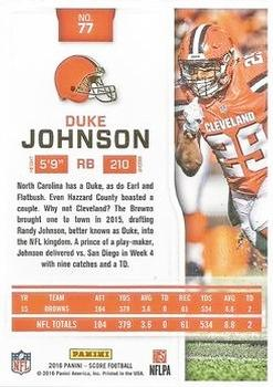 2016 Score - Jumbo End Zone #77 Duke Johnson Back