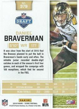 2016 Score - Jumbo End Zone #379 Daniel Braverman Back