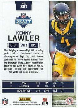 2016 Score - Jumbo End Zone #381 Kenny Lawler Back