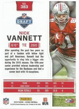 2016 Score - Jumbo End Zone #383 Nick Vannett Back
