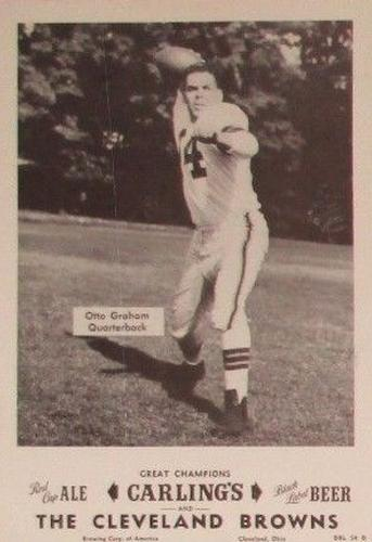1954 Carling's Black Label Beer Cleveland Browns Picture Pack #NNO Otto Graham Front