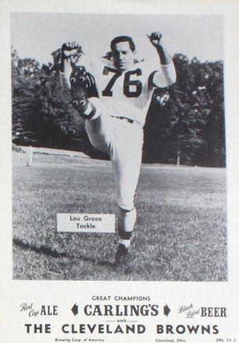 1954 Carling's Black Label Beer Cleveland Browns Picture Pack #NNO Lou Groza Front