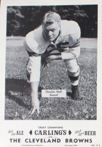 1954 Carling's Black Label Beer Cleveland Browns Picture Pack #NNO Chuck Noll Front