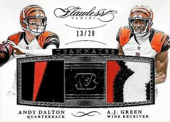 2015 Panini Flawless - Teammates Patches #ADAJ Andy Dalton / A.J. Green Front