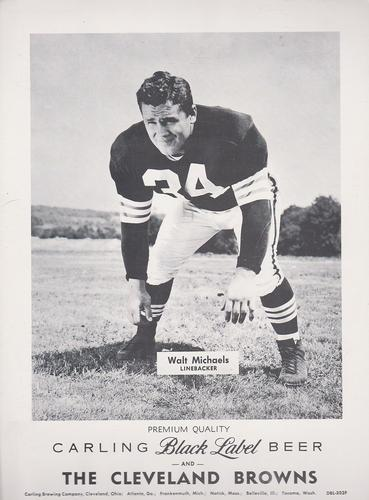 1959 Carling Black Label Beer Cleveland Browns #DBL-302F Walt Michaels Front
